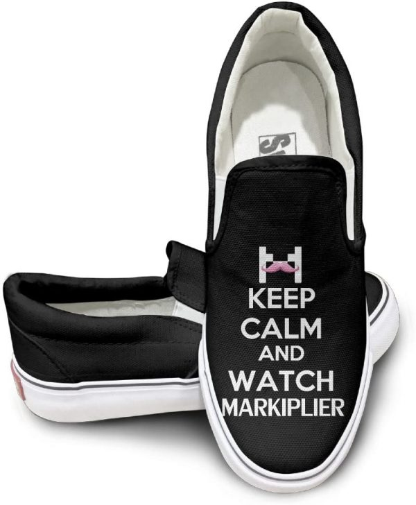 HYRONE Keep Calm And Watch Markiplier Cool Sport Shoes Sporting Black