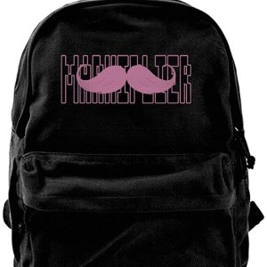 KIHOYG Markiplier Warfstache Logo Canvas Backpack