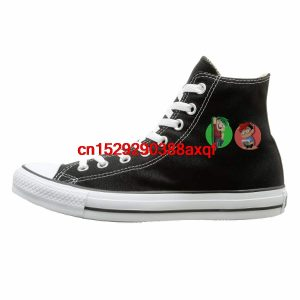 Women Men Casual Shoes Daily Markiplier & Jack Septic Eye Print High-top Flat Canvas Shoes