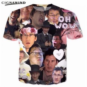 New Markiplier Collage 3D Printed Funny T-shirts