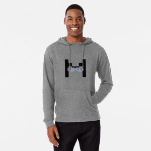 Markiplier trippy logo Lightweight Hoodie Grey Color