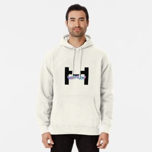 Markiplier trippy logo Pullover Hoodie White Color